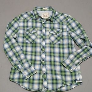 American eagle outfitters Green/blue plaid western